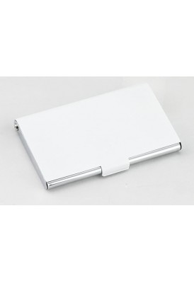 White and Silver Business Card Case