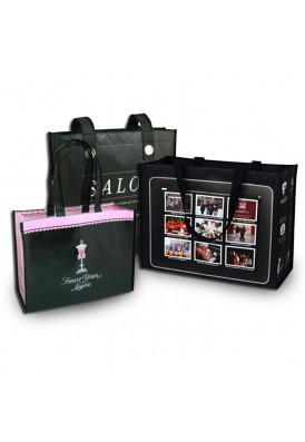Custom Made Laminated PolyPro Tote Bags Black