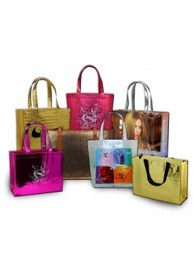 Custom Made Metallic PolyPro Non-Woven Bags