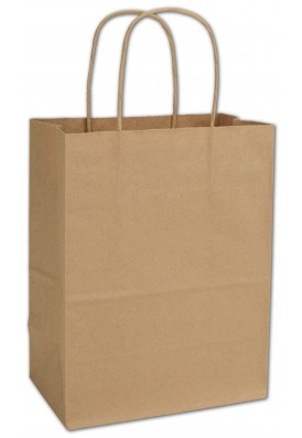 Kraft Paper Shopper Vertical 10.5 Tall Foil Imprint (Case of 250pcs)