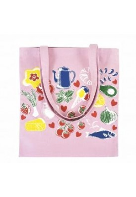 8 Oz Pink Colored Canvas Tote Bag with Edge-to-Edge Printing 8-10 Weeks - Overseas