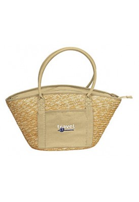 Hand Woven Wheat Tote
