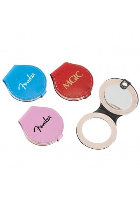 Leather Round Mirror Compact