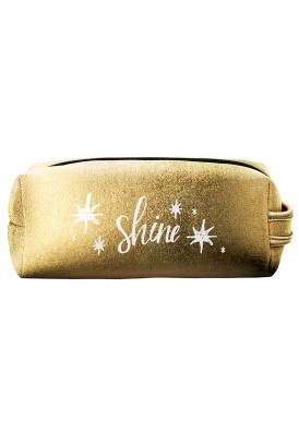 Metallic Chrome Neoprene Dopp Kit