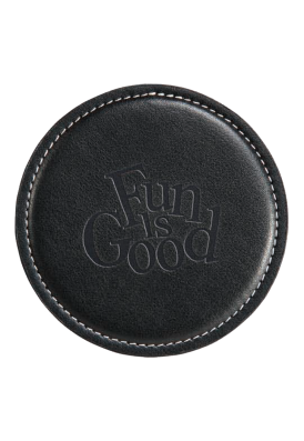 Geniune Black Leather Promotional Coaster