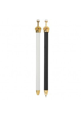 Elegant Regal Crown Adorned Metal Pen