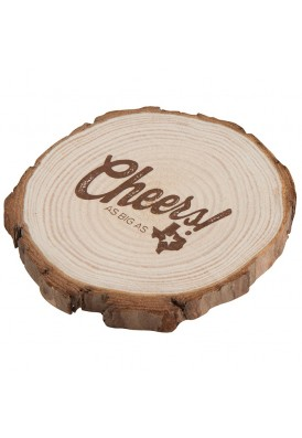 Trendy and Rustic Real Natural Wood Coaster