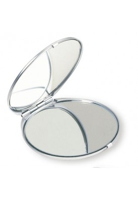 Brushed Aluminum Mirror Compact