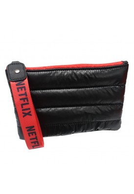 Quilted Puff Cosmetics Zippered Case with Strap