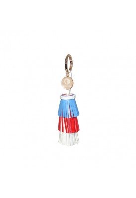 Custom Tri-Color Leatherette Tassel Key Chain