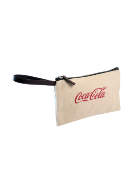 Quality 12 Oz Flat Canvas Wristlet with Leather Strap