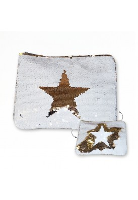 Sequins Changing Flat Cosmetics Pouch