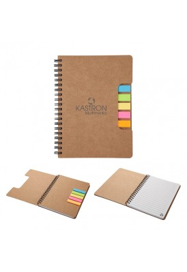 Cool Diecut Cover Sticky Notes Spiral Notebook Journal