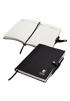 Simple Black Leatherette Journal