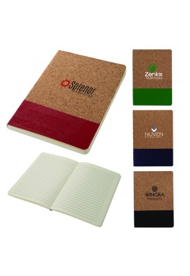 Two-Tone Natural Cork Accent Soft Cover 8x5.75 Journal