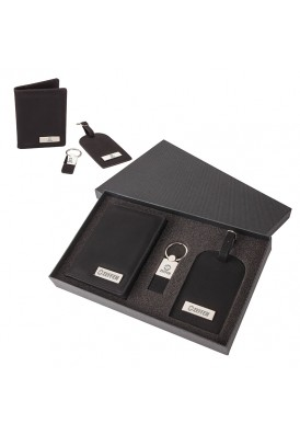 Travel Set Gift Box of Luggage Tag, Keyring, and Passport Book