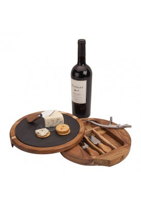 Round Board Wine & Cheese Set