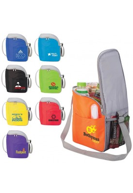 Color Bright 12-Can Portable Cooler Tote Bag