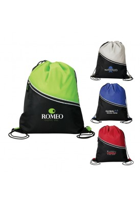 Trendy Two-Tone Stylish Drawstring Cooler Insulated Backpack