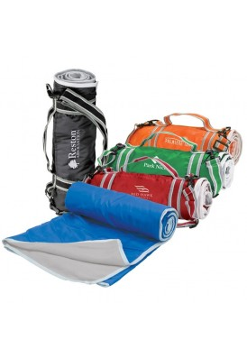 Color Bright Large Picnic Travel Blanket with Carry Strap