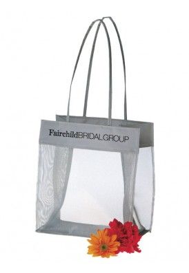 Mesh Gift Tote with Accent Trim