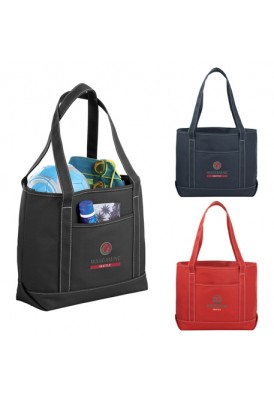 Heavy Weight 16 Oz Cotton Colored Canvas Boat Tote with Pocket