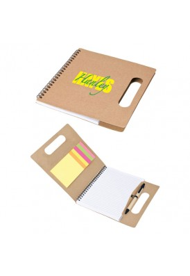 Eco Friendly Notebook with Sticky Notes and Handle
