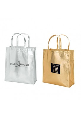 Metallic Gold or Silver Shopper Tote