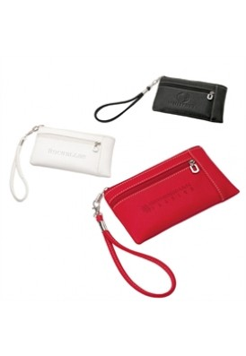 Soft Leatherette Wristlet Wallet with Strap
