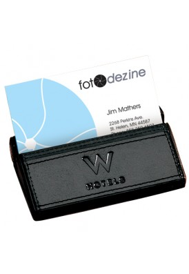 Leather Desktop Card Holder II