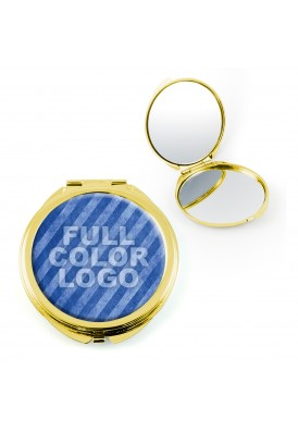 Full Color Gold Compact Mirror