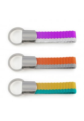 Any Color - Color Strap and Metal Key Chain