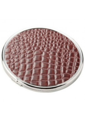 Croc Textured Premium High End Mirror Compact