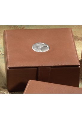 Cowhide Leather Keepsake Box