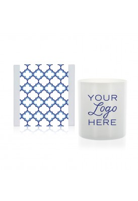 11 Oz Moroccan Candle Gift with White Glass - QHE (Quality High End)