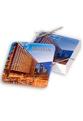 Set of 2 Full Color Acrylic Coasters Gift Set
