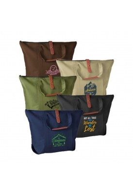 Polycanvas with Leatherette Accented Shoulder Tote