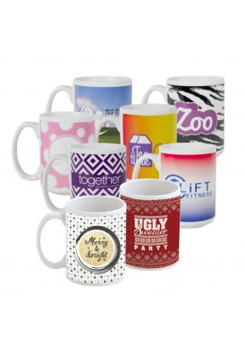 Full Color Sublimated 15 Oz C-Handle Mug