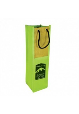 Color Bright Wine Tote with Grommet and Rope Handles