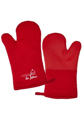 Cotton Canvas and Silicone Oven Mitt