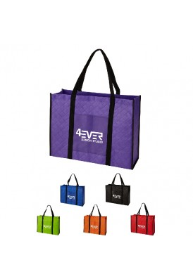 Modern Quilted Style Laminated NonWoven Tote III