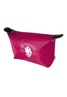 Handy Cosmetics Bag with Leatherette Tab Accents