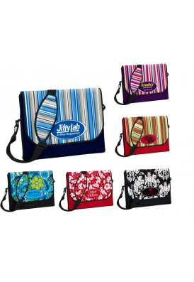 Neoprene Laptop Sleeve Briefcase Medium, Playful Patterns