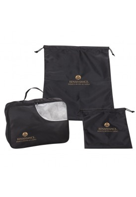 Professional Series 3 Piece Travel Bags Set for Shoes Garments and Essentials
