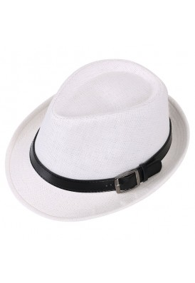 Fedora Hat with Premium Leather Fashion Buckle Band