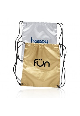 Shiny Gold or Silver Drawstring Backpack