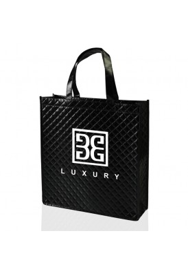 Metallic Quilted Patterned Laminated Non-Woven Polypro Tote Bags