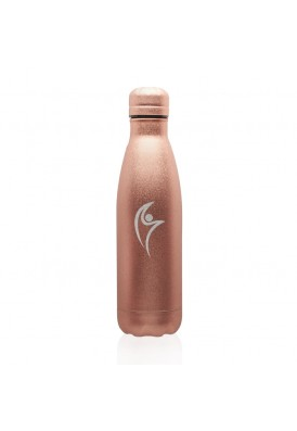 Metallic Rose Gold 17 Oz Flake Textured Vacuum Bottle