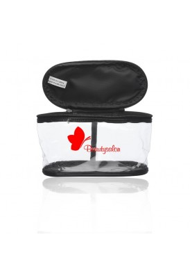 Clear Carry Handle Zip Around Rounded Travel Bag Case
