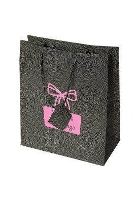 Glittery Bling Paper Shopper Tote Bag Vertical 11.75 Tall